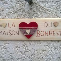 """Plaque de porte """"la maison du bonheur"""""""