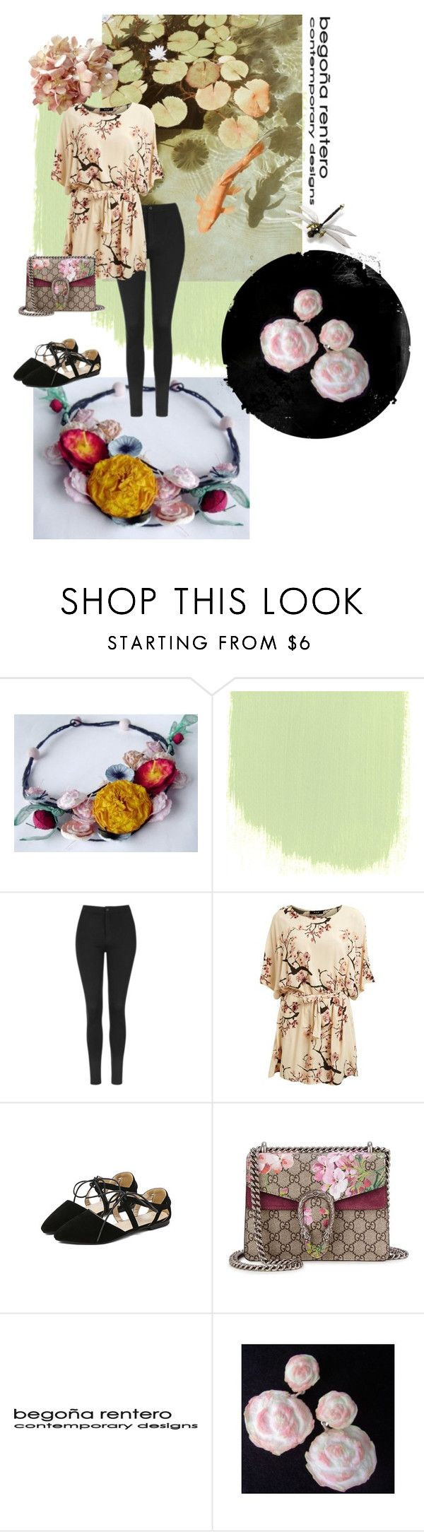 """""""Eastern Lights"""" by renterodesigns on Polyvore featuring moda, Topshop, Lipsy y Gucci"""