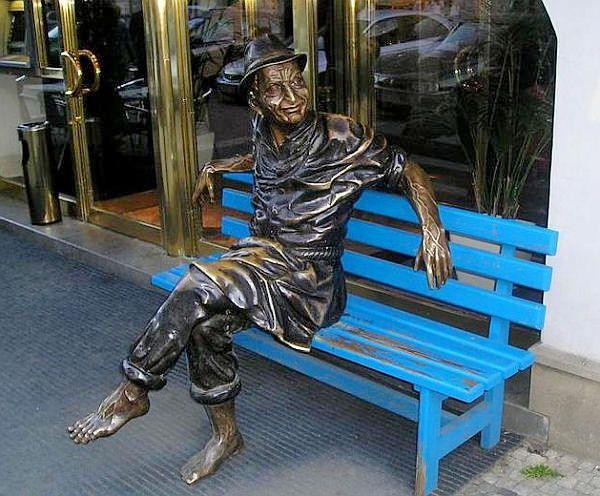 Городская скульптура. Скамейки - Praga