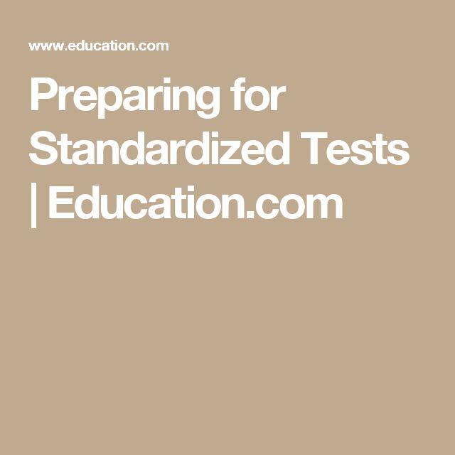 Preparing for Standardized Tests | Education.com