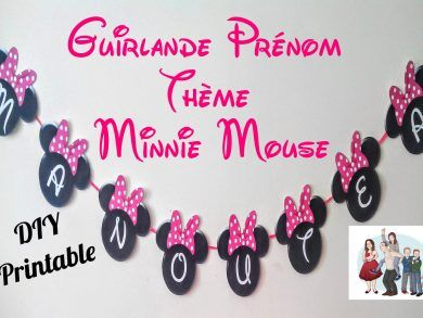 DIY Printable - guirlande prénom minnie mouse