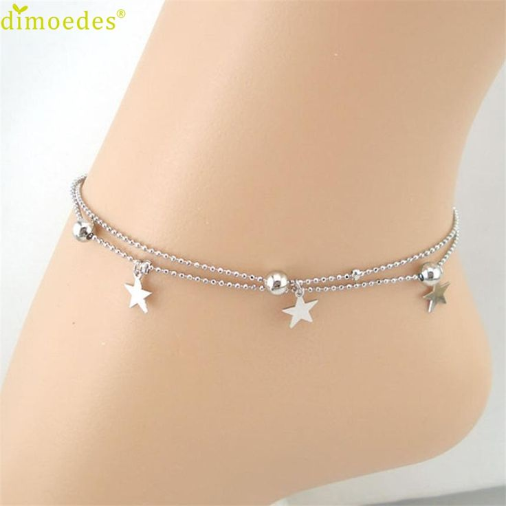 Diomedes Gussy Life 8 Wholesale Double Chain Stars Women Chain Anklet Bracelet Sandal Beach Foot Jewelry Jan11 //Price: $US $0.75 & FREE Shipping //     #hashtag3