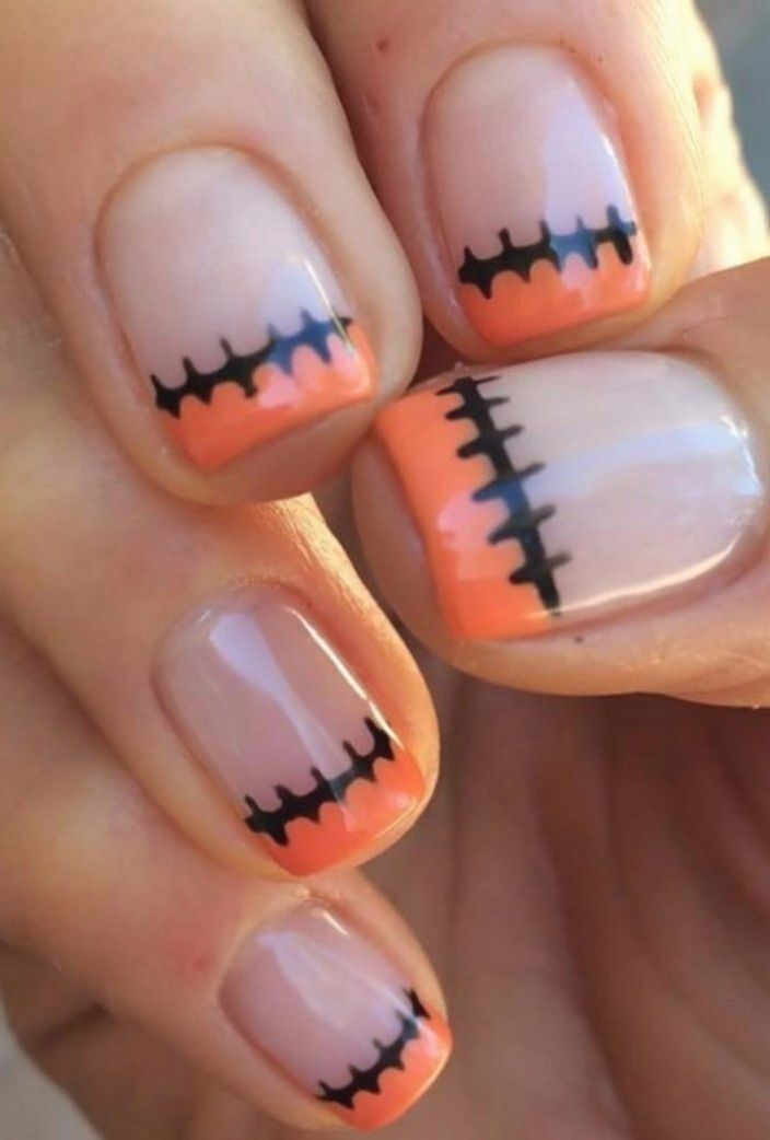 Idees D Art D Ongle Halloween Effrayant Ongles Halloween Facile Ongle Halloween Manucure Halloween