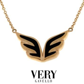 'Angel' necklace in pink gold and essenza