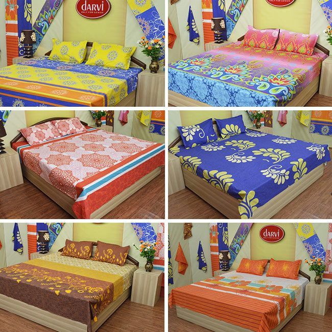 Darvi Cotton 6 Bedsheets Combo made up of 100% cotton From Teleshop @ Rs 2,999 Only . Book Your Order Now @ 09312100300