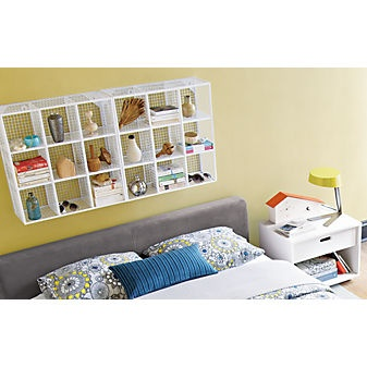 Wire 9 Cube White Wall Shelf In Furniture | CB2