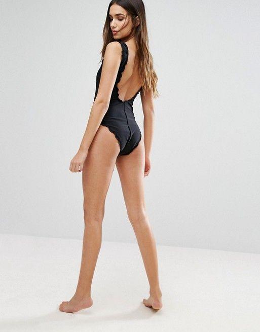 Vero Moda | Vero Moda Scallop Trim Swimsuit