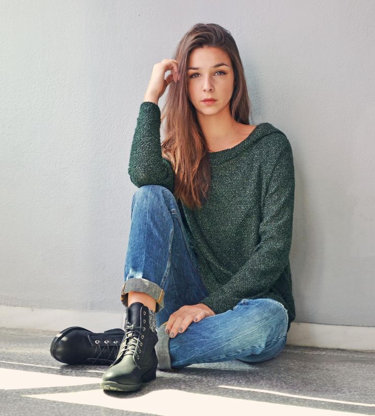 Dark Green Hoodie and Boyfit Jeans <3 Casual look BADILA FW1516 -Fall Into Style Collection- Shop > Badila.gr
