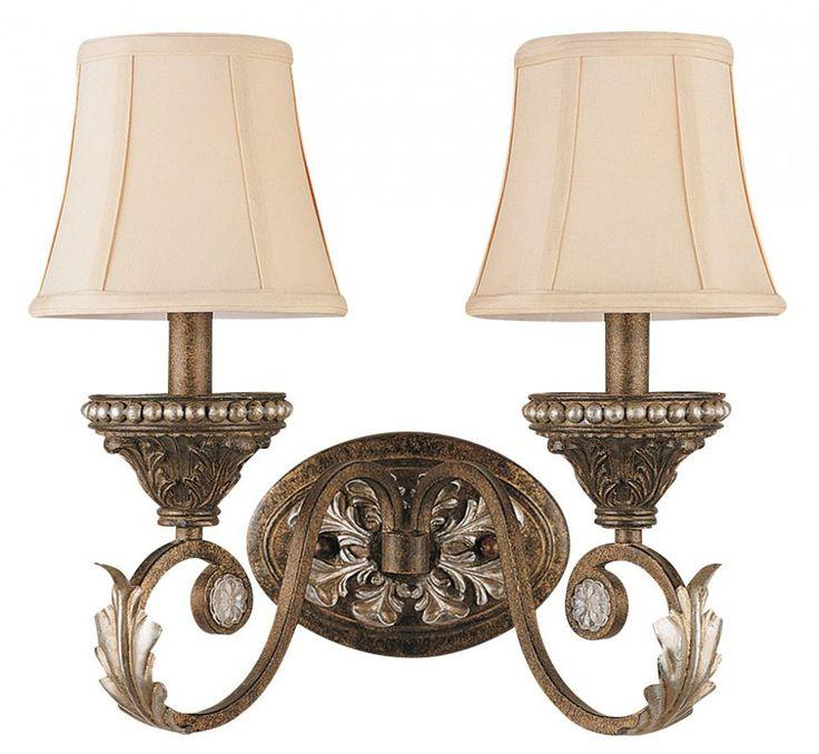 Two Light Weathered Patina Wall Light : 6722-WP | Lighting Emporium bedroom