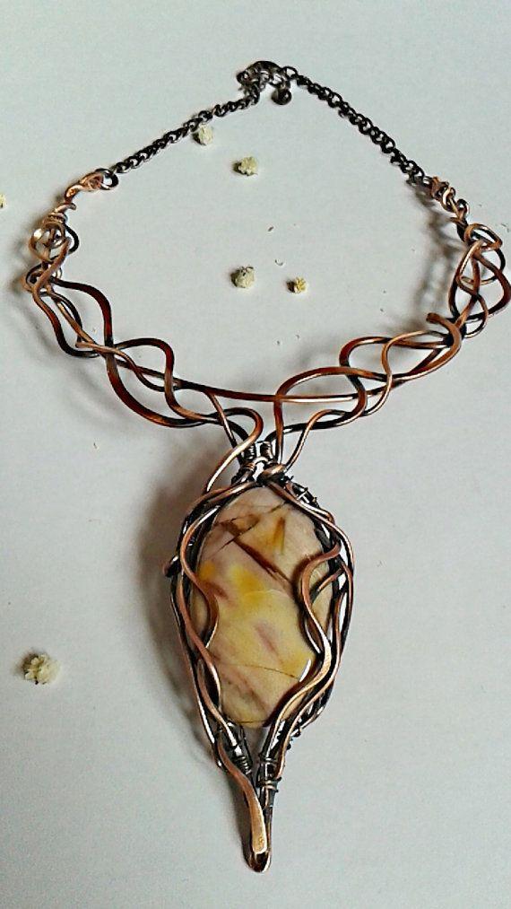 498 best Колье images on Pinterest | Wire jewelry, Wire wrap jewelry ...