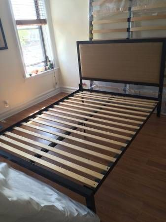 queen size metal bed frame and headboard for sale 100 80 winthrop street