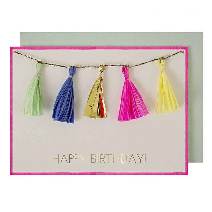 Meri Meri Happy Birthday Card www.CircoDellaModa.com
