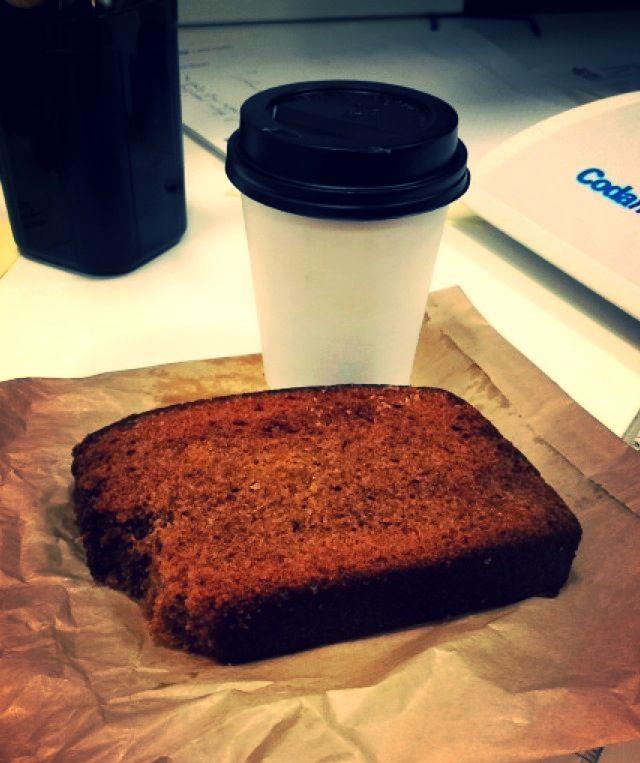 Simple pleasures... Banana bread & hot skinny latte ❤️