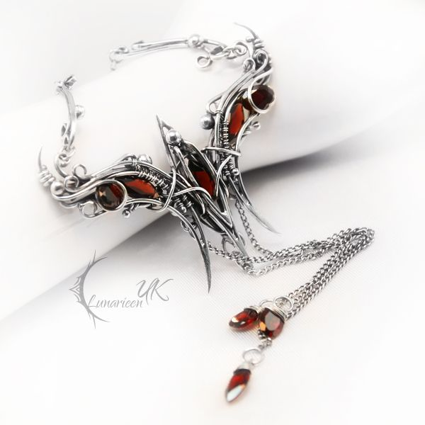 242 best wire art jewelry 2 contemporary images on pinterest luvilhmarx silver and garnet by lunarieen unique necklacesjewelry aloadofball Image collections