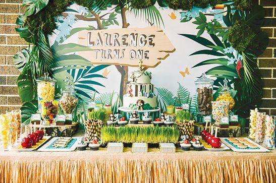 Un anniversaire thème jungle
