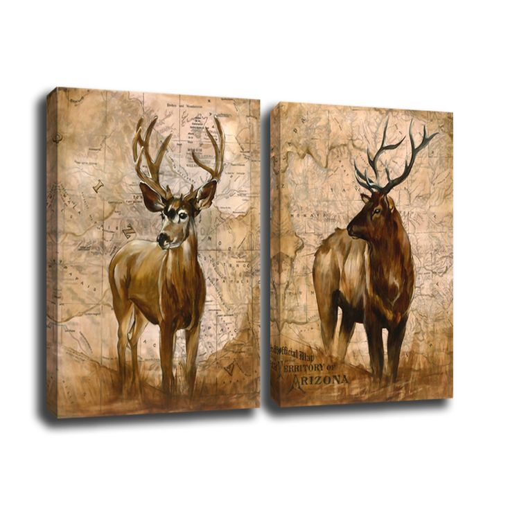 canvas wall art elk Picture Painting on Canvas Print Modern Home Decorations…
