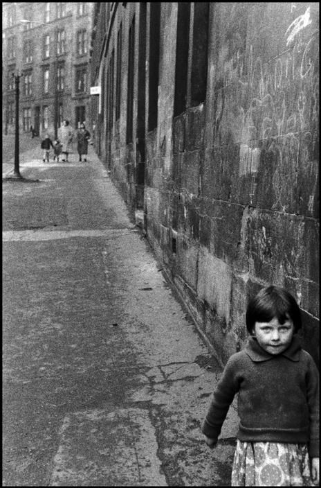 Bruce Davidson. UK. 1960. Young girl on street.