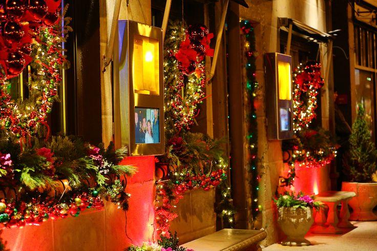 Christmas decorations at strega italian restaurant