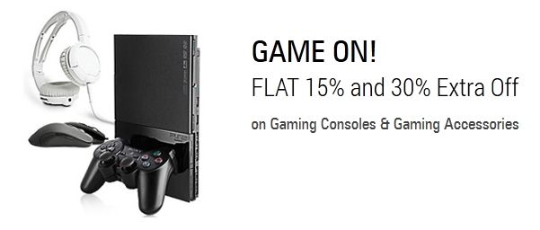 Flat 15 % OFF on Gaming Consoles & 30% Extra off on Gaming Accessories