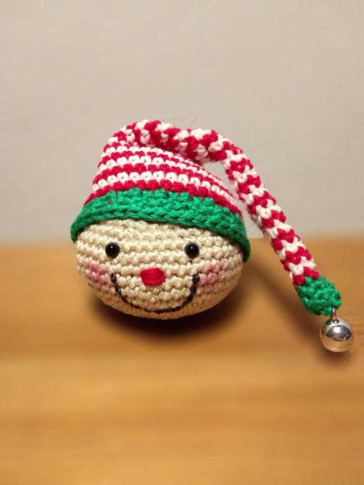 Crochet christmas elf ornament