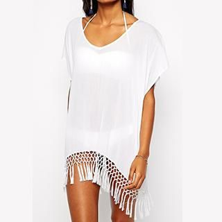 Buy Sunset Hours Tassel Cover-Up Dress at YesStyle.com! Quality products at remarkable prices. FREE WORLDWIDE SHIPPING on orders over CA$ 45.