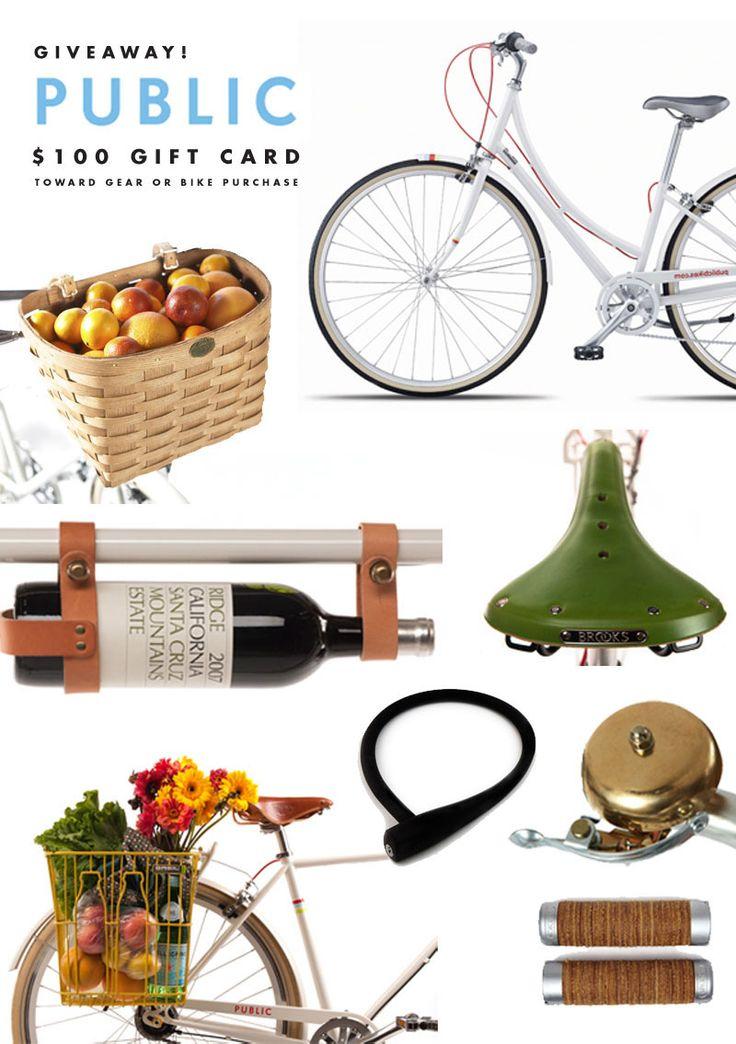 i want a PUBLIC bike and cute accessories.