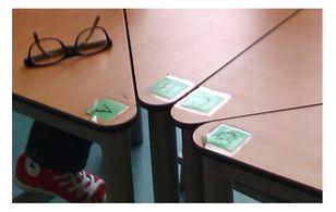 """ABCD tafels. Handig om meer te halen uit je groepsindeling. Bijvoorbeeld: """"De groene groep mag als eerste naar de computers."""" of """"Alle B's ruimen de knutselmaterialen van hun groep op."""""""