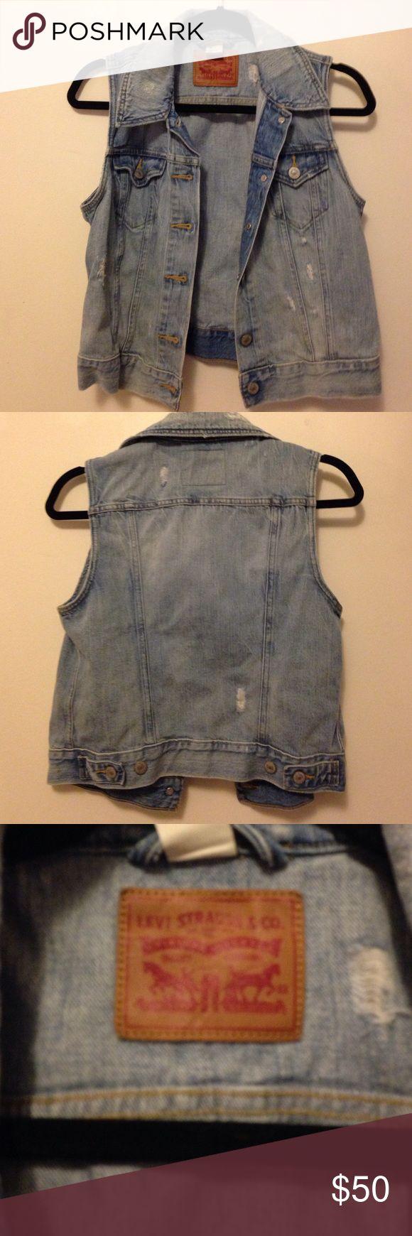 Levi Jean Jacket Vest Like new jean jacket. Perfect condition. Make me an offer! Levi's Jackets & Coats Jean Jackets