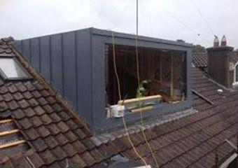 Dormer on House  Trocal Standing Seam:  Client:  Quantity Surveyor;  Architect:  Value: €400,000.00  Period: 2010  Description:  This projec...