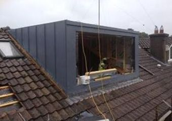 Dormer on House  Trocal Standing Seam:  Client:  Quantity Surveyor;  Architect…