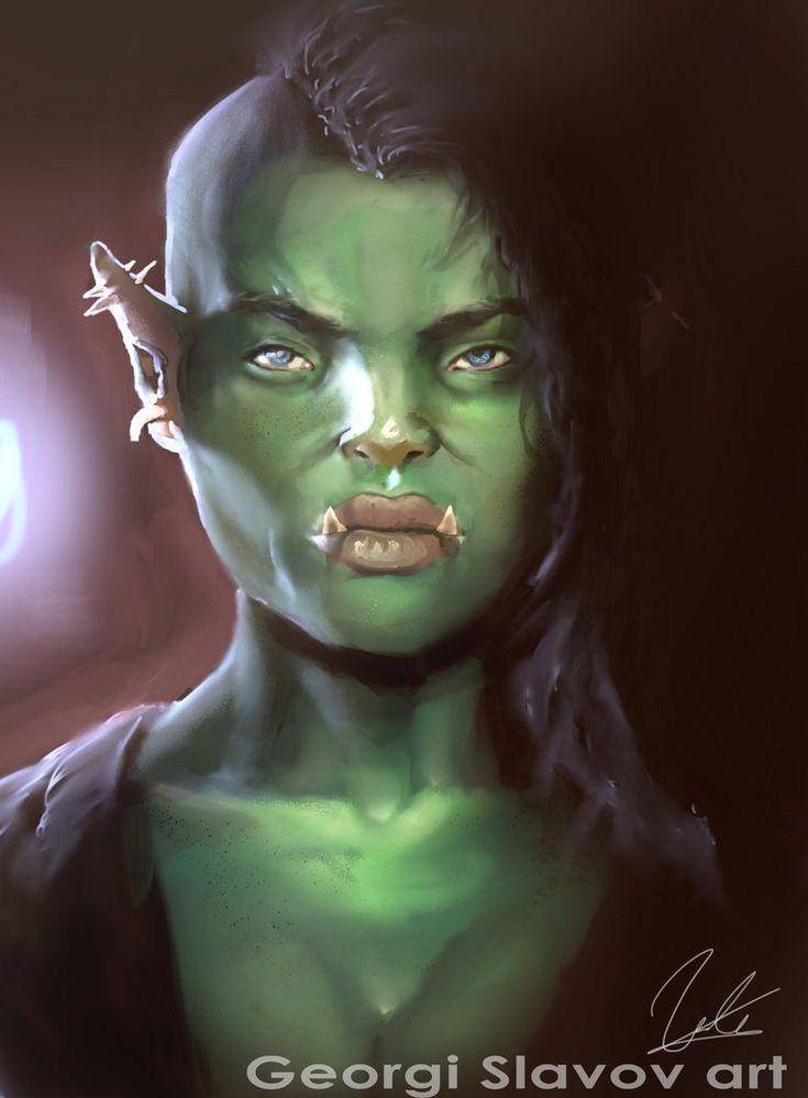Orc female portrait by G-manbg on DeviantArt