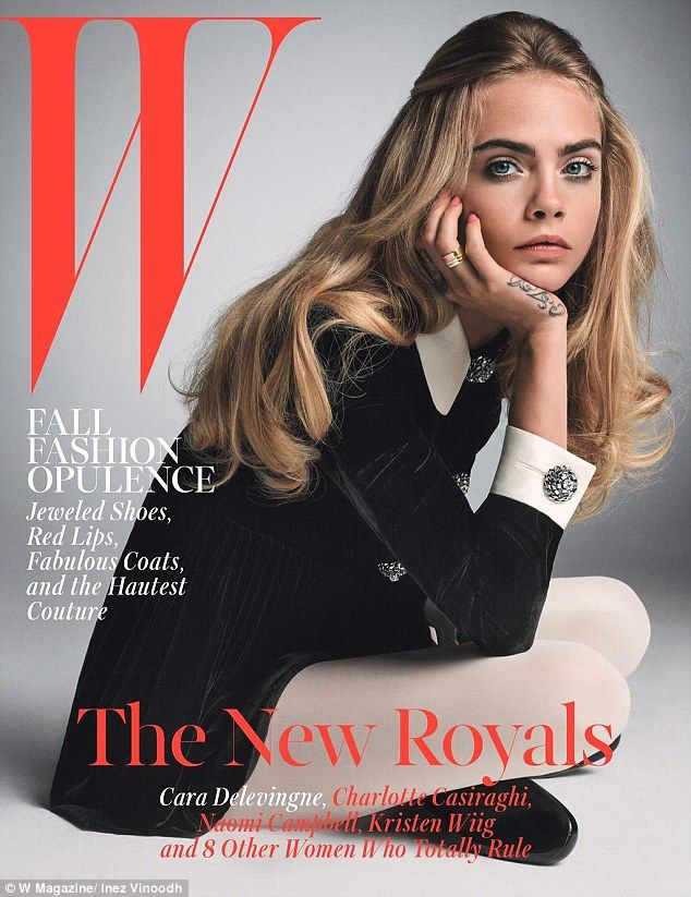 She's got The Face: Cara Delevingne has seen her status as a fashion darling cemented in the latest issue of W Magazine