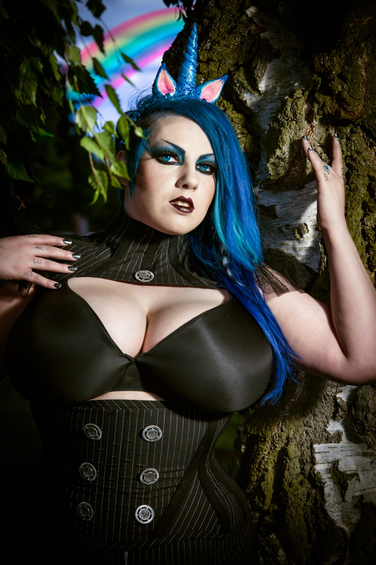 By JLD Imagery - #unicorn #horn #fantasy #rainbow #bluehair #blueeyes #forest #trees #corset #jldimagery: Unicorn Horns, Corset Jldimagery, Rainbow Bluehair, Blueeyes Forest, Trees Corset