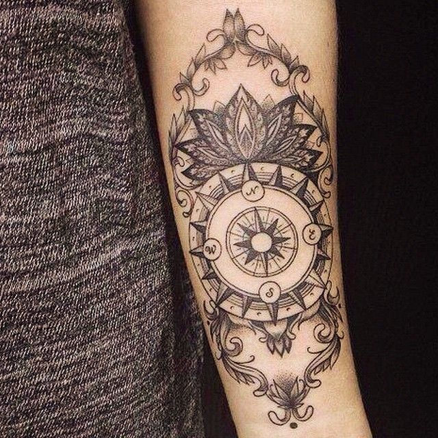 """""""follow your compass my butterflies, let it guide you  if you know the owner or artist please tag them #hippietattos"""""""
