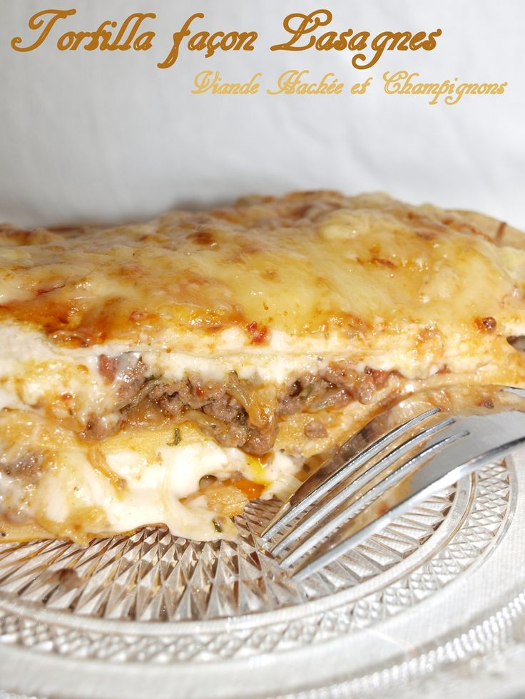 Voici une délicieuse version de lasagnes , en remplaçant les plaques de pâtes en mettant à la placedes tortillas , on s'est régalés à...