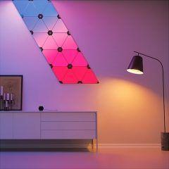 部屋を幻想的な空間に演出できるLEDパネルオーロラAuroraライトが欲しい 1セット枚入りになっていて壁面や天井にパズルのように貼り付けて使えるらしい しかも専用のアプリを使えば光の色と点灯パターンを自由にカスタマイズできるんだって これがあれば部屋の中をオシャレなバーみたいにできるね()
