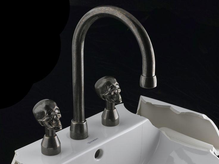 Skull Bathroom Sink : skull skull von skull knobs skulls bathroom bathroom faucets sinks ...