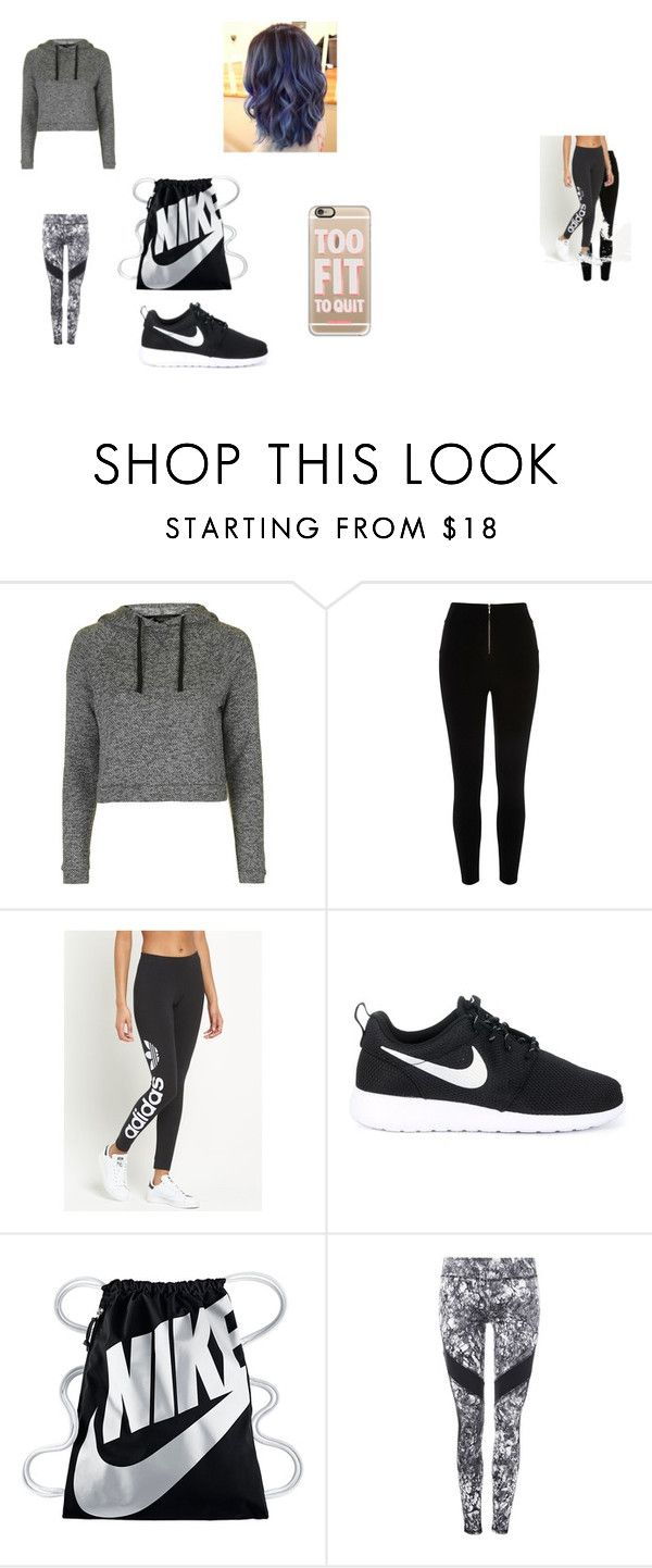 """How to wear Nike"" by depiokawek on Polyvore featuring Topshop, River Island, adidas Originals, NIKE and Casetify"