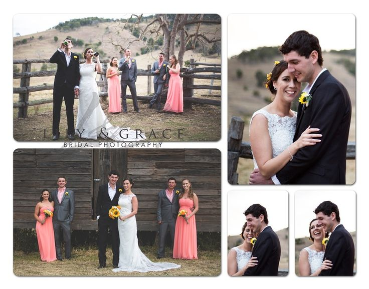 This is from our COWLING COUNTRY WEDDING! Sunflower, daisies, wedding, coral pink bridesmaids, country, farm wedding