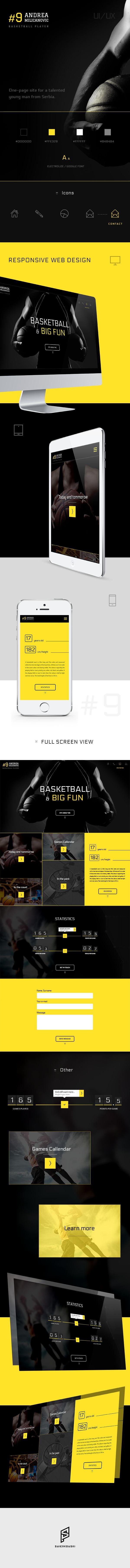 Cool Web Design, Andrea Milicanovic. #webdesign #webdevelopment [http://www.pinterest.com/alfredchong/]