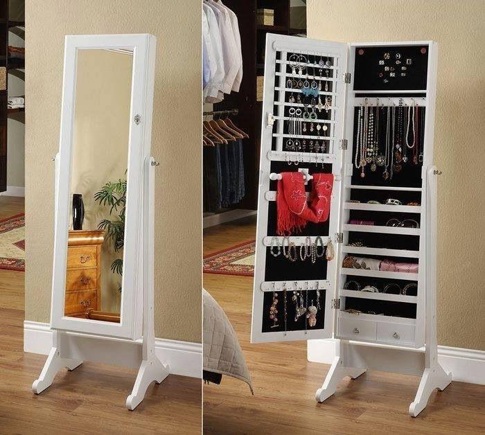 Bedroom long mirror with hidden storage | Bedrooms | Pinterest