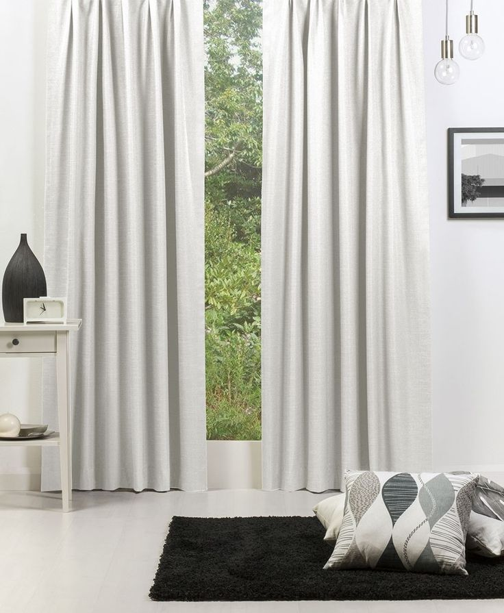 Broome (Blockout) Pencil Pleat Curtain - Snow #Curtains