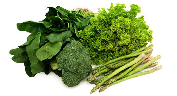 La verdura verde: