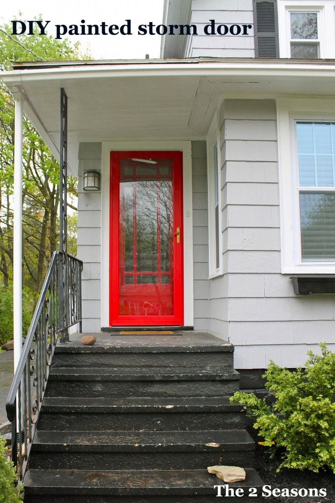 25 best ideas about painted storm door on pinterest for Front entry doors with storm door