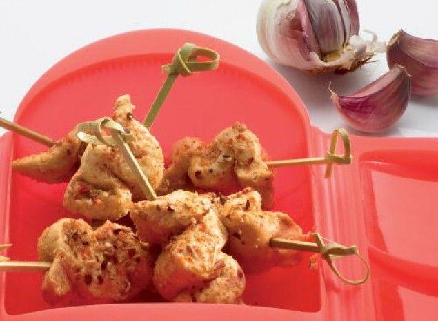 Tacos de pollo Satay con sésamo