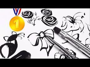 10 Professional Freehand Nail Art Designs Training Lessons HOW TO BASICS Ultimate Beginners Guides - YouTube