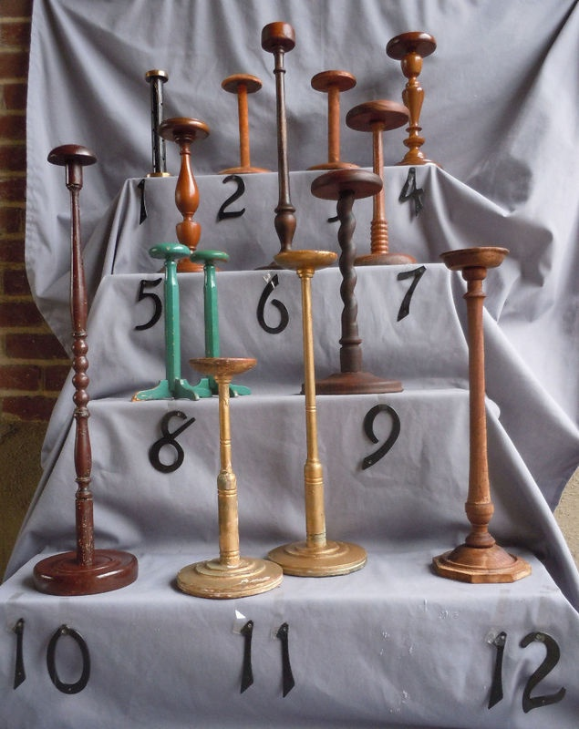 Vintage hat stands. I would like to have a few of these for the master bedroom of my future home to display and store my Bromley hats.