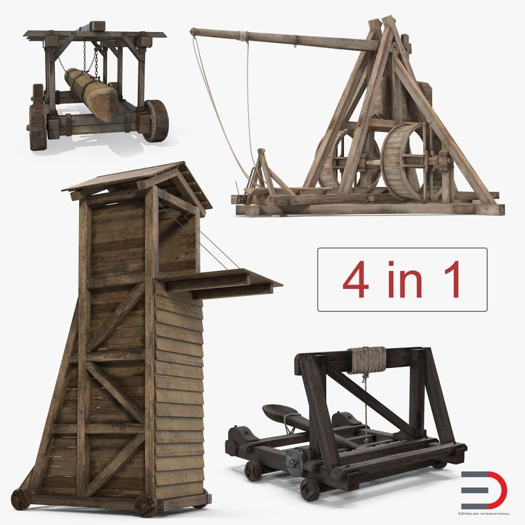 Medieval Siege Weapons Collection 3D model