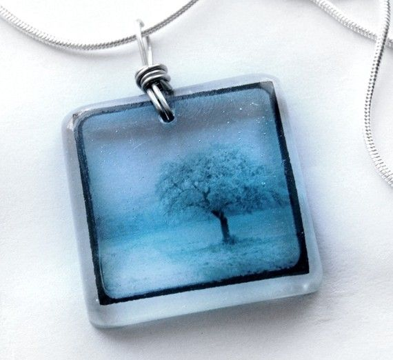 photo on transparencies cast in resin [Etsy: bethtastic]