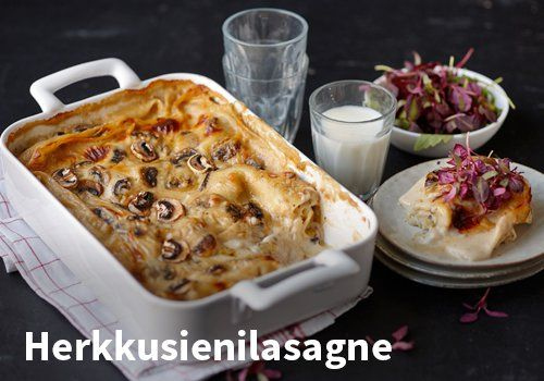 Herkkusienilasagne, Resepti: Valio #kauppahalli24 #resepti #verkkoruokauppa #herkkusieni #lasagne #ruokaidea
